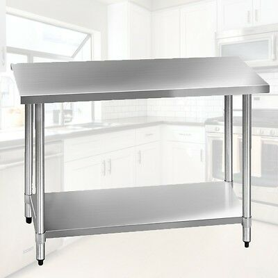 NEW Quality Work Bench Stainless Steel Table Kitchen Commercial Workshop 122cm