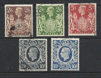 Great Britain #249 thru 253 VF