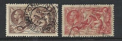 Great Britain - #222 and 223 VF Excellent Stamps