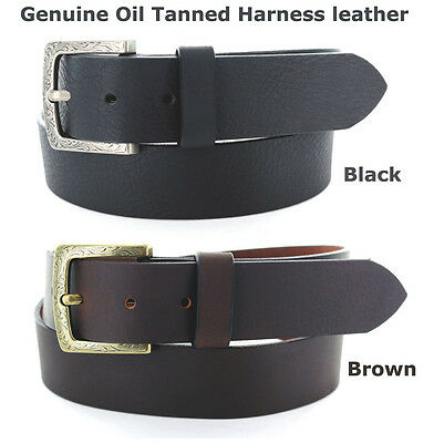 """1-3//8/"""" Wide Five Card Stud Poker Oil Tanned Concho Leather Casual Ranger Belt"""