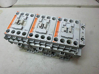 SPRECHER and SCHUH - 4 Pole CONTACTOR - Lot of 3 - 24AC coils 4kW and 5.5Kw