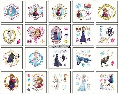 1-100 Frozen Elsa Anna Olaf Temporary Tattoos Girl Party Favors Bag Stickers