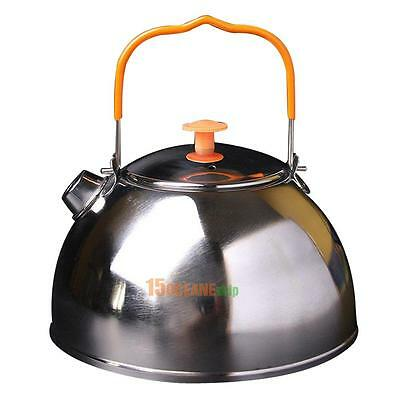 0.6L Outdoor Camp Picnic Cookware Teapot Stainless Steel Kettle Coffee Pot
