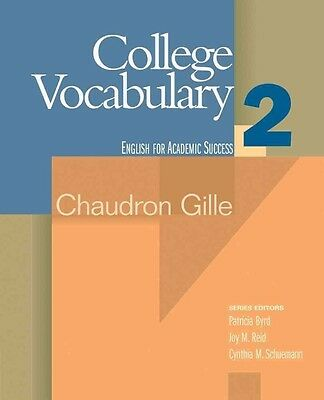 College Vocabulary 2: Houghton Mifflin English for Academic Success by Chaudron