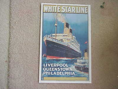 "White Star Line - Poster of ""The Big Four"" Britain and Ireland  to USA"