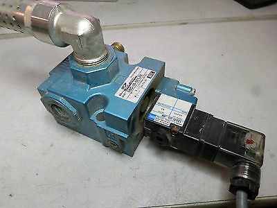 MAC PNEUTECH - PILOT OPERATED VALVE 56C-16-501JM plus  Solenoid and Silencer