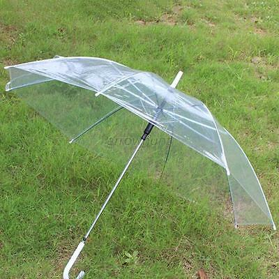 Chic New Windproof Transparent Clear Women Rain Umbrella Wedding Party Parasol