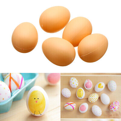 5Pc Fake Dummy Egg Hen Poultry Chicken Joke Prank Egg Halloween Home Party Decor