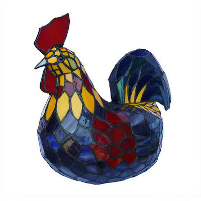 Healthy Rooster Tiffany Style Table Lamp Lead Light - Will Ship Australia Wide