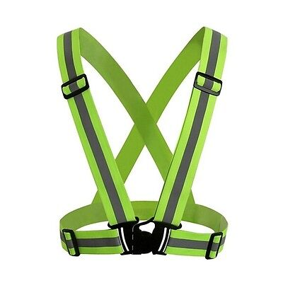 Hi Viz High Visibility Belt Safety Reflective Bike Cycling Vest Tops Flourescent