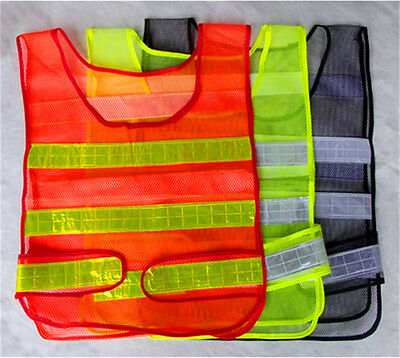 High Visibility Hi Vis Reflective Safety Work Vest Jacket Yellow Fluro Cycling