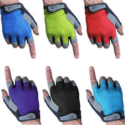 MTB Bike Cycling Gel Silicone Gloves Half Finger Bicycle Riding Mitts Fingerless