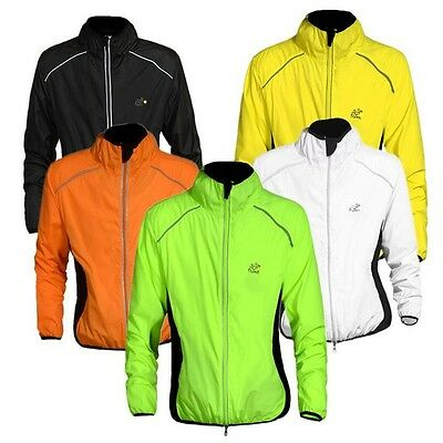 Mens High Visibility Bike Bicycle Cycle Jacket Waterproof Running Rain Coat Tops