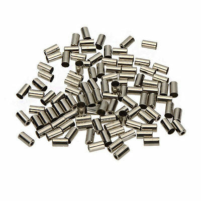 100 X Bike Bicycle Brake Gear Cable Outer Housing End Caps Crimps Ferrules 5MM
