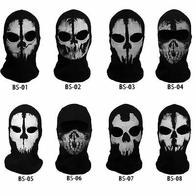Tactical Balaclava Black Cotton Full Face Mask Hunting Wargame Paintball Airsoft