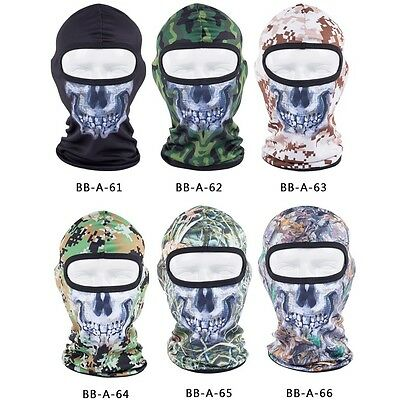 Tactical Balaclava Camouflage Full Face Mask Hunting Wargame Paintball Airsoft