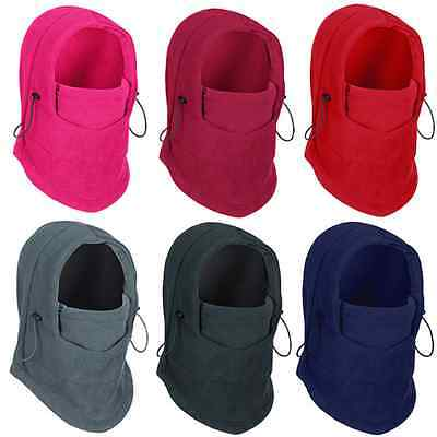 Fleece Thermal Balaclava Ski Snowboard Cycling Face Mask Neck Scarf Hood Hat Cap