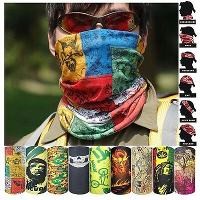 Motorcycle Biker's Durag Helmet Liner Head Face Mask Neck Scarf Bandana Hat Caps