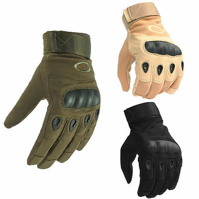 Men's Tactical Impact Heavy Duty Combat Full Finger Gloves Hunting Shooting Gear