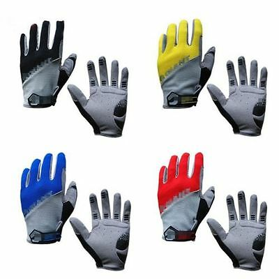 Mountain Cycling Bicycle Bike Full Finger Gloves Antiskid 3D Gel Silicone Padded