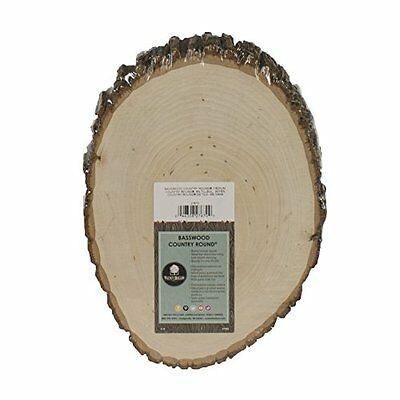 Walnut Hollow Basswood Country Round Medium For Woodburning Home Décor & Rustic