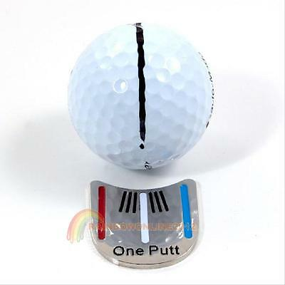 Easy Use Golf Putting Alignment Aiming Tool Ball Marker with Magnetic Hat Clip