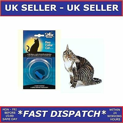 Petstar Cat Flea Collar Fits All Cats Kittens Over 6 Mth Flea Kill Lasts 4 Month