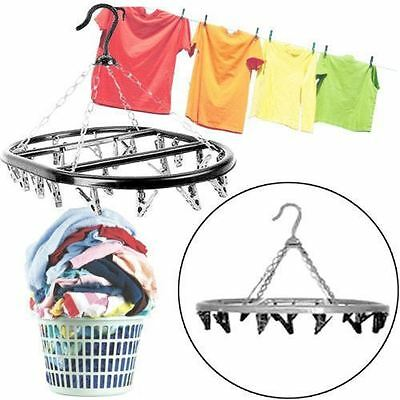 20 Peg Plastic Hanging Clothes Dryer Drying Ling Laundry Indoor Outdoor