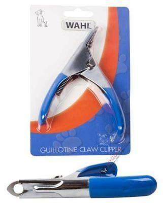 Wahl Guillotine Claw Nail Clippers Stainless Steel Dog Fine Grip Handle Trimmer