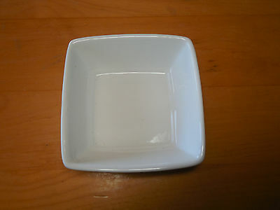 Food Network CREMA WHITE SQUARE Set of 3 Fruit Sauce Bowls 5 in