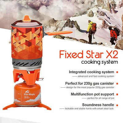 Fire Maple FMS-X2 Compact One-Piece Camping Stove & Heat Exchanger Pot R1BO