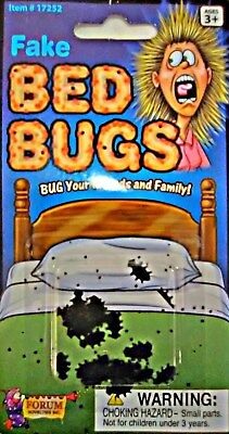 FAKE BED BUGS  Funny Gag Trick Halloween Prank School Realistic Gross! FREE S/H!