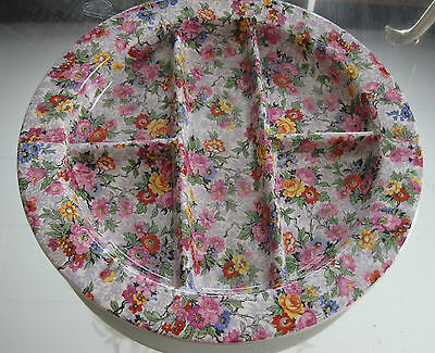 Nelson Ware  Large Devided  ''marina'' Chintz Pickle Relish Tray