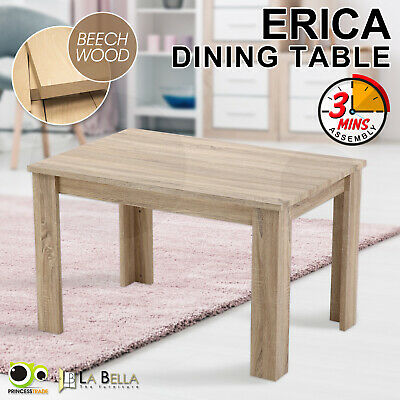 La Bella Erica Dining Table Rectangular Home Furniture Cafe Kitchen Oak Colour