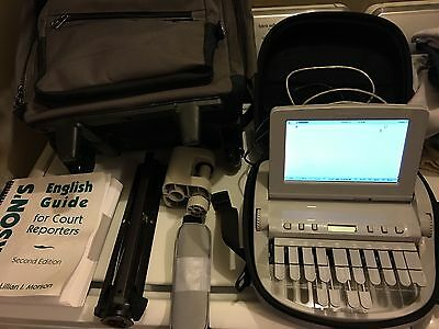 Stenograph Student Writer Steno Court Reporting Machine Tripod Book Backpack etc