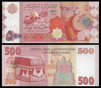 Antnapolistan Bank 500 Dinars 2015 UNC  new signature