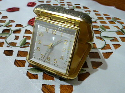 Rare Vintage Jewels Travel Desk Wind Up Alarm Clock Made In Germany