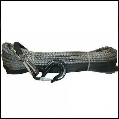 10mm X 30m Dyneema SK75 Winch Rope Hook Synthetic Car Tow Recovery Cable