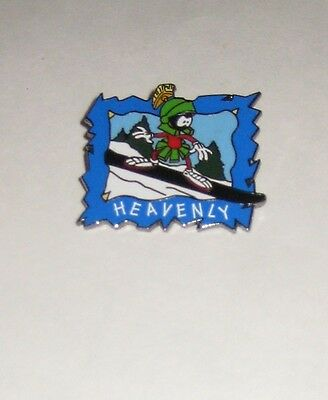 Retired Lapel Pin Marvin the Martian ON SNOWBOARD ing) at Heavenly Ski Resort