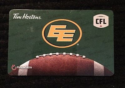 Tim Hortons Cfl Edmonton Eskimos Reloadable Gift/tim Card New