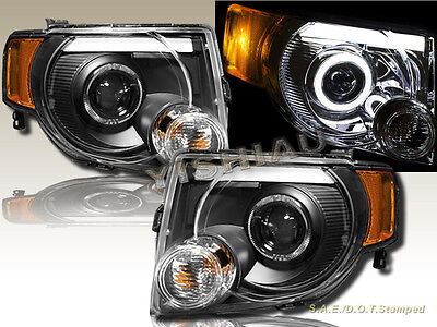 08-12 Ford Escape Utility LED Halo Projector Black Headlights NEW