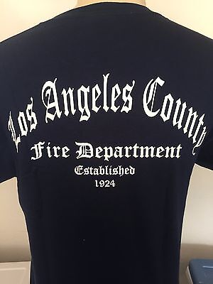 Los Angeles County Fire Department  Old English T Shirt Established 1924 T Shirt