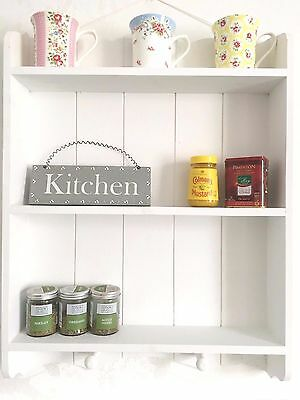 Shabby Chic Wall Unit Kitchen Shelf Cupboard Cabinet  French Vintage Style White