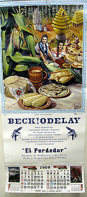 Beck Odelay promo poster 2008 calendar NEW Bong Load Maurice Devaux Painting