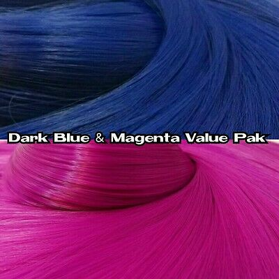 Dark Blue & Magenta XL 2 Color Value Pack Nylon Doll Hair Rooting Barbie FR MLP