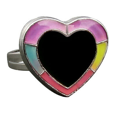 Kids Magic GLOW IN DARK Heart Shape Color Change Emotion Feeling MOOD RING
