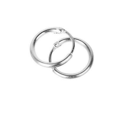 Non-allergic 925 Sterling Silver Small Sleepers Hinged Hoops Earrings 8mm