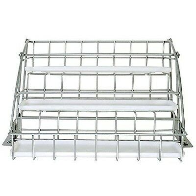 Rubbermaid Pull Down White Spice Rack and Satin Nickel, Clear