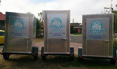 mobile cool room 6x4 portable coolroom trailer heavy duty custom any size