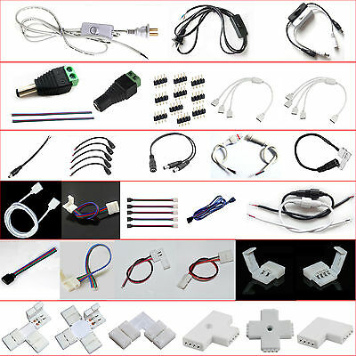 All type Connectors and adapters for 3528/5050/5630 LED STRIP NO SOLDER easy use